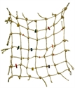 FM 671 NATURAL SISAL BIRD NET WITH TOYS