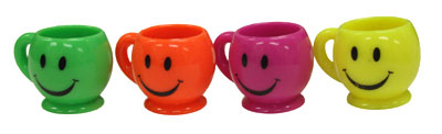 SMILIE FACE CUPS