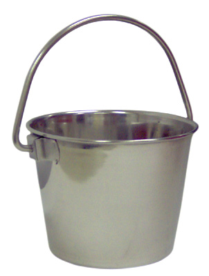 SS0147 1/2 PINT STAINLESS STEEL BUCKET