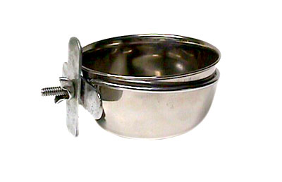 5oz STAINLESS STEEL COOP CUP W/CLAMP